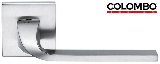 Дверная ручка на квадратном основании COLOMBO Isy BL11RSB-CM матовый хром - фото 13213