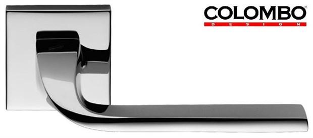 Дверная ручка на квадратном основании COLOMBO Isy BL11RSB-CR полированный хром - фото 13217