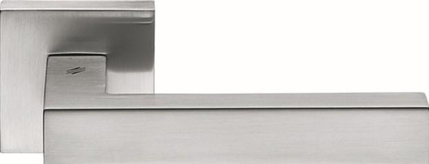 Дверная ручка на квадратном основании COLOMBO Elesse BD21RSB-CM матовый хром - фото 13221