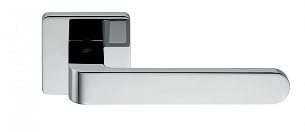 Дверная ручка на квадратном основании COLOMBO Fedra AC11RSB-CR полированный хром - фото 13227