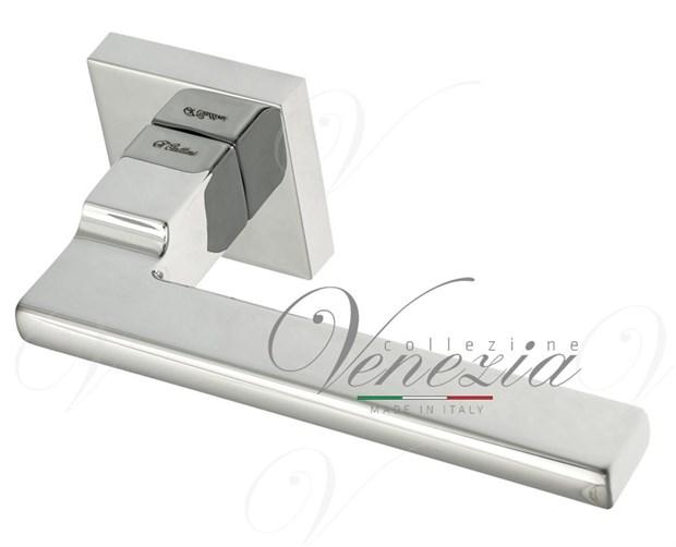 """Дверная ручка на квадратном основании Fratelli Cattini """"SLIM"""" 8-CR полированный хром - фото 13237"""