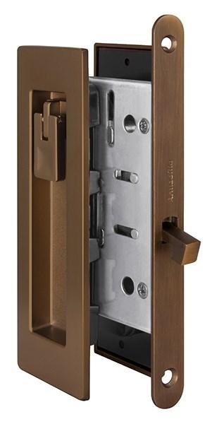 Замок для раздвижных дверей Armadillo H011 URB BB-17 Коричневая бронза - фото 13364