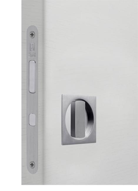Замок для раздвижной двери G500T H21 Quadro комплект WC (Матовый хром)  - фото 13515