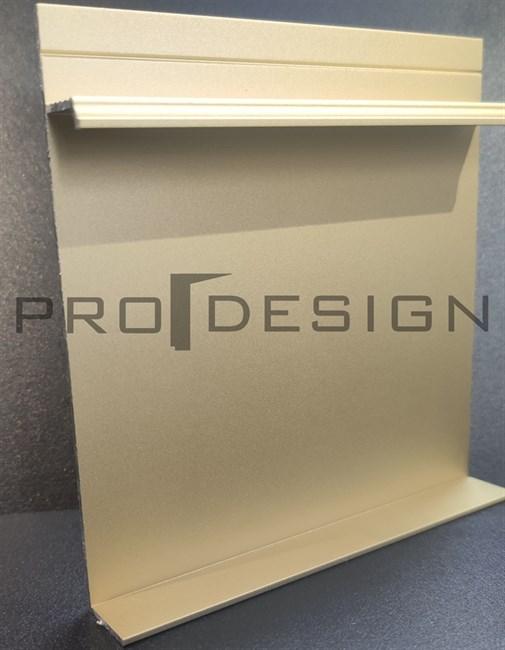 Плинтус скрытого монтажа Pro Design Universal (анод. золотой) - фото 13733
