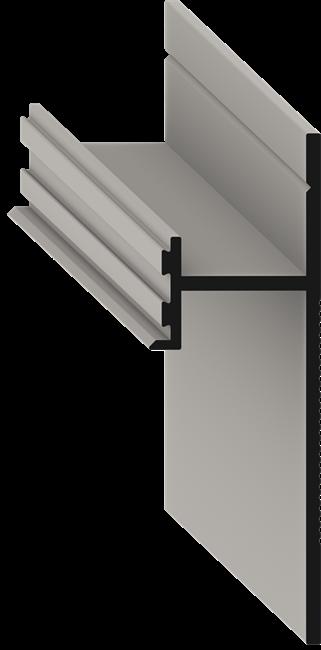Теневой плинтус скрытого монтажа Pro Design Черный - фото 13913