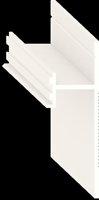 Теневой плинтус скрытого монтажа Pro Design Белый - фото 13915