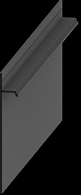 Плинтус скрытого монтажа Pro Design Чёрный RAL9005 - фото 13938