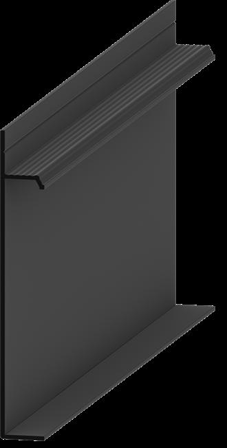 Плинтус скрытого монтажа Pro Design Universal (Черный Анодированный) - фото 13979