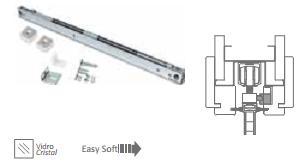 Доводчик OPEN SPACE (металл) для стеклянных полотен 80 кг./ 100 кг. - фото 6511
