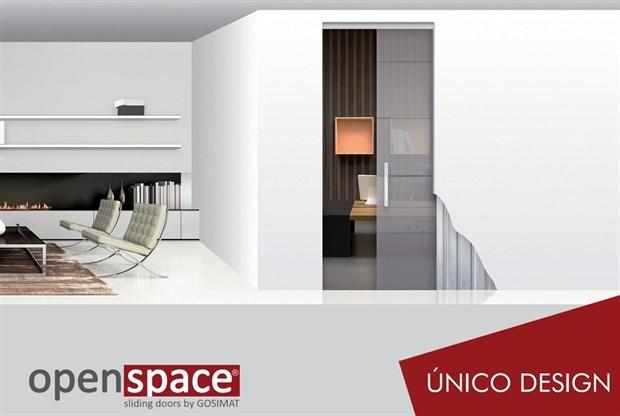 Пенал UNICO DESIGN для стеклянных дверей высотой 2000 мм. - фото 7994