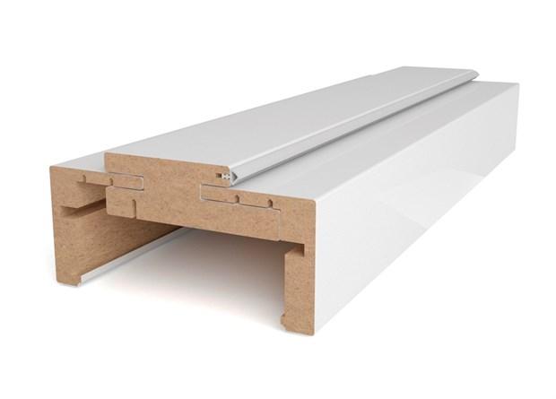 Коробочный блок на 2000мм (две вертикальные стойки) + петли накладные AGB Twin (2 шт.) + наличники (с двух сторон) (ширина 75мм-125мм) - фото 8764