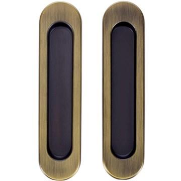 Комплект ручек для раздвижных дверей Armadillo SH010, матовая бронза