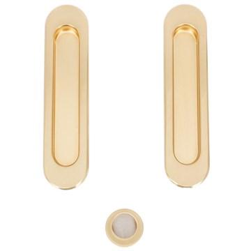 Комплект ручек для раздвижных дверей Armadillo SH010, матовое золото