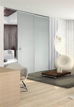 Потолочный дверной пенал Open Space PARALELO Glass Plus Soft (с доводчиком) для телескопических цельностеклянных полотен 2800-2899 мм