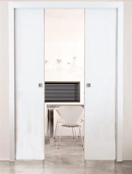 Комплект пенала Eclisse Unico Double с комплектом обрамления и дверными полотноми под покраску