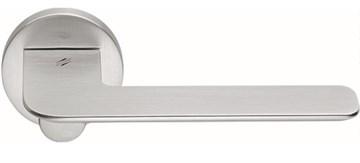 Дверная ручка на круглом основании COLOMBO Slim FF11RSB-CM матовый хром