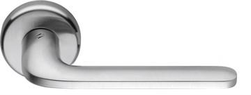 Дверная ручка на круглом основании COLOMBO Roboquattro ID41RSB-CM матовый хром
