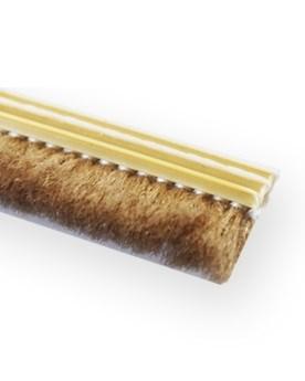 Щеточный уплотнитель для обрамления раздвижных дверей 9 мм