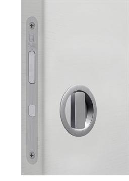 Замок для раздвижной двери G500T H21 Tondo комплект WC (Матовый хром)