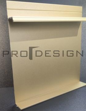 Плинтус скрытого монтажа Pro Design Universal (анод. золотой)