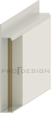 Плинтус скрытого монтажа Pro Design Universal (крашенный по RAL)