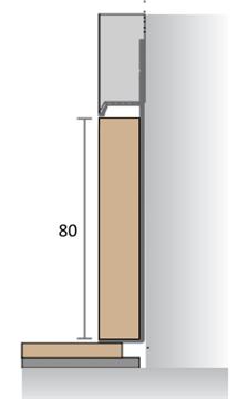 МДФ вставка в плинтус Pro Design 80 мм (Шпон по образцу заказчика)