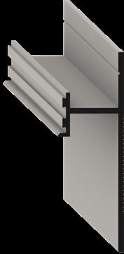 Теневой плинтус скрытого монтажа Pro Design Черный