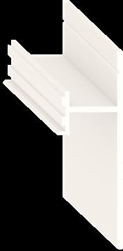 Теневой плинтус скрытого монтажа Pro Design Белый