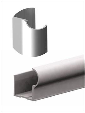 Профиль алюминиевый вертикальный F-D 2700 серебро