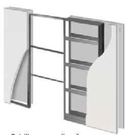 Пенал Open Space UNIKIT DESIGN для дверей высотой 2000 мм.