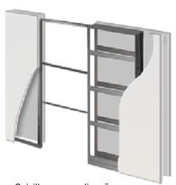 Пенал Open Space UNIKIT DESIGN для дверей высотой 2100 мм.