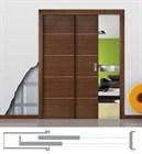 Пенал Open Space PARALELO Wood для двух дверей высотой 2000 мм. - фото 11031