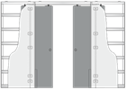 Пенал Luce Double для двух дверей 2100 mm - фото 11702