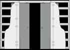 Пенал Luce Double для двух дверей 2600 mm - фото 11708