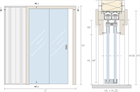 Пенал Open Space PARALELO Glass для телескопических цельностеклянных дверных полотен - фото 11962
