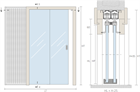 Пенал Open Space PARALELO Glass для телескопических цельностеклянных дверных полотен - фото 11963