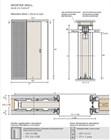 Потолочный дверной пенал Open Space UNICO Plus для дверей 2400-2499 мм - фото 12107