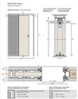 Потолочный дверной пенал Open Space UNICO Plus Soft (с доводчиком) для дверей 2400-2499 мм - фото 12122