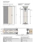 Потолочный дверной пенал Open Space UNICO Plus Soft (с доводчиком) для дверей 2600-2699 мм - фото 12128