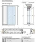 Потолочный дверной пенал Open Space PARALELO Glass Plus Soft (с доводчиком) для телескопических цельностеклянных полотен 2800-2899 мм - фото 12205