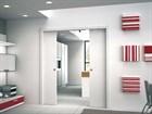 Комплект пенала Eclisse Unico Double с комплектом обрамления и дверными полотноми под покраску - фото 12939