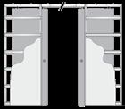 Комплект пенала Eclisse Unico Double с комплектом обрамления и дверными полотноми под покраску - фото 12944