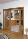 Кассета KOMFORT NORMA (под гипсокартон) для двух дверей 2100 мм - фото 13483