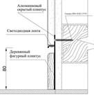 МДФ вставка в плинтус Pro Design 80 мм (грунт под покраску) - фото 13578