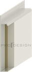 Плинтус скрытого монтажа Pro Design Universal (не анод. алюминий) - фото 13743