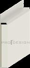 Плинтус скрытого монтажа Pro Design Universal (крашенный по RAL) - фото 13749